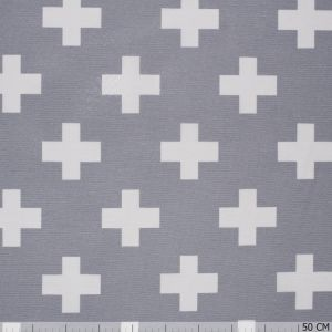 Nobo Cross White on Grey