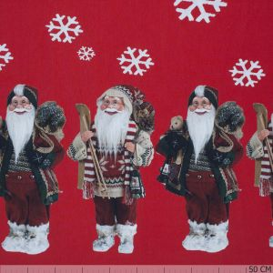 Two Side Border Santa Red