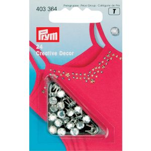 Creativ Decor Strass MS 5 mm silberfarbig