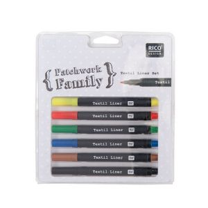 Textilstifte-Set Patchwork Basic (6St)
